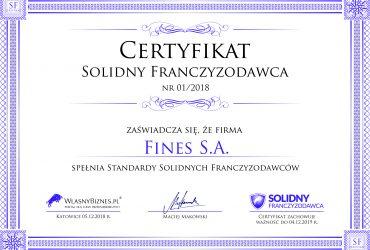 Certyfikat FINES 3000px
